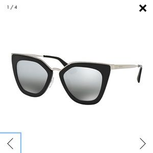 Mirrored Cat-Eye Prada Sunglasses Limited Edition